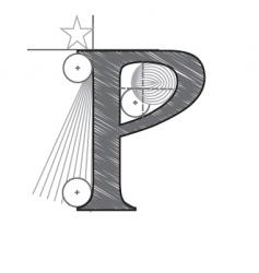 p vector image