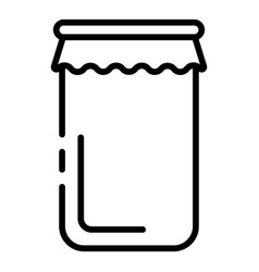 Packed jam jar icon outline style vector