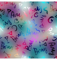 Party words on blur background vector