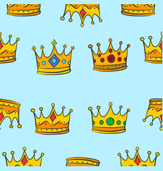 pattern of crown elegant collection vector image vector image