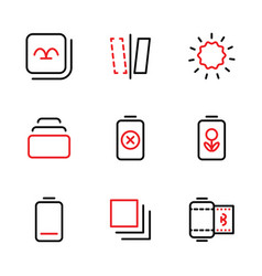 Photo editor icon set include gallery device vector