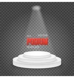 Photorealistic Winner Podium Stage vector image