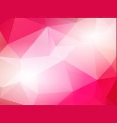 red color geometric mosaic background vector image