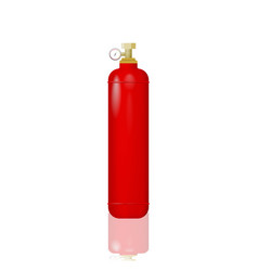red cylinder with liquefied gas vector image