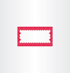 Red decorative rectangle frame vector