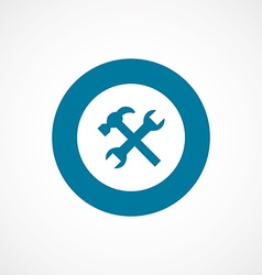 repair bold blue border circle icon vector image