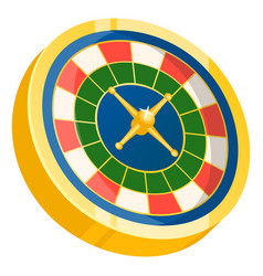 roulette with colored segments and pointer vector image