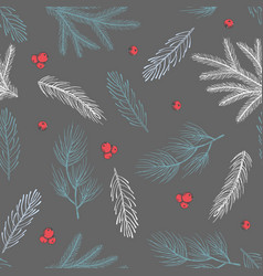 Seamless pattern with christmas tree decorations vector