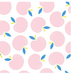 seamless pattern with pink apples vector image