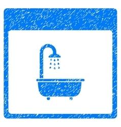 Shower Bath Calendar Page Grainy Texture Icon vector image