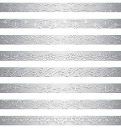 Silver element border design vector
