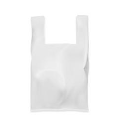 slim white shopping bag on white background vector image