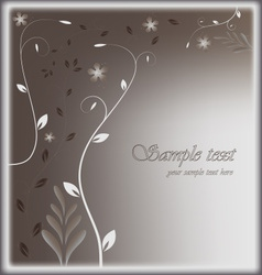 Stylized card with floral background vector
