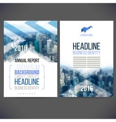 template design annual report 2017 vector image