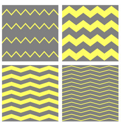 tile chevron pattern set with grey white vector image