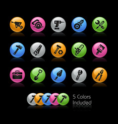 tools icons - gelcolor series vector image