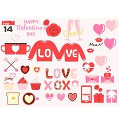 Valentine design elements vector