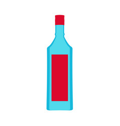 Vodka bottle alcohol beverage glass drink icon vector