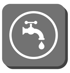 Water Tap Rounded Square Icon vector image