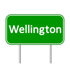 Wellington road sign vector