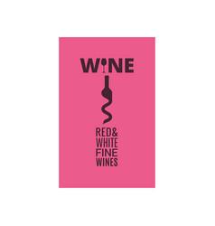 wine bottle cellar screw for wine concept design vector image
