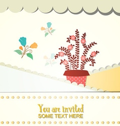 With wedding and flower vector
