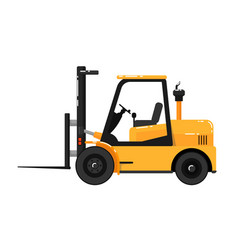 yellow forklift truck isolated on white background vector image