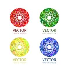 Business geometric emblem template set vector image vector image
