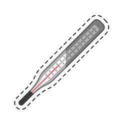 cartoon thermometer scale measuring icon vector image