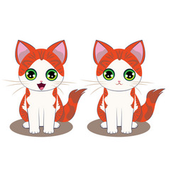 ginger kitten cartoon vector image vector image