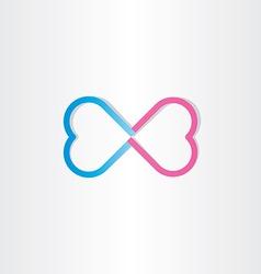 infinite love infinity heart sign vector image