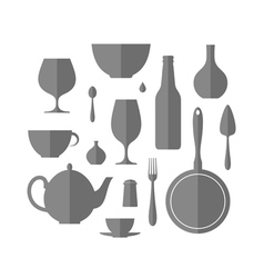 Kitchen utensil Icon set vector image vector image