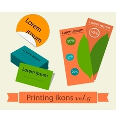 Print icons set5 vector image