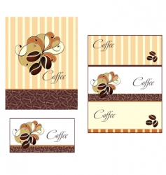 coffee cup design with beans vector image vector image