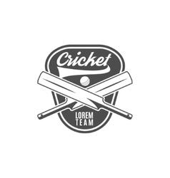 Cricket team emblem and design elements logo vector
