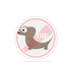 dogs are not allowed to enter prohibition sign vector image
