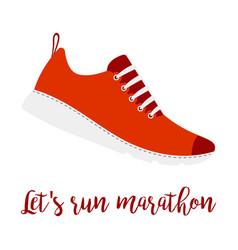 lets run marathon style shoe vector image