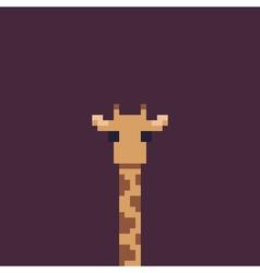 Pixel Art Giraffe vector image
