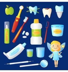 Teeth Care Set vector image