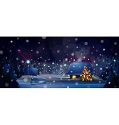 winter christmas tree vector image vector image
