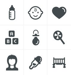 Baby Icons Set Design vector image vector image