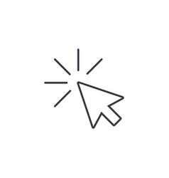 cursor arrow click thin line icon linear vector image vector image