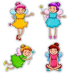 cute fairies vector image vector image