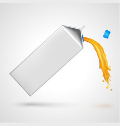 Flowing juice pack vector image vector image