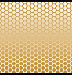 hexagon halftone gold color vector image vector image