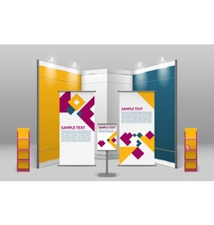 Advertising Exhibition Stand Design vector image