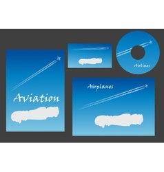 Aviation marketing elements vector image