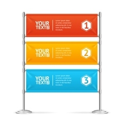 Blank Banner Flags Colorful Horizontal With Text vector image vector image