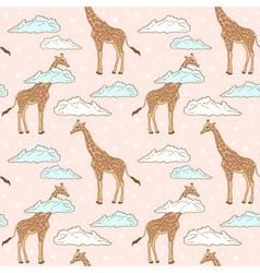 giraffe pink big vector image vector image