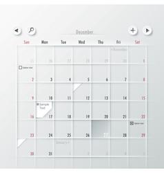 Paper Calendar Design vector image